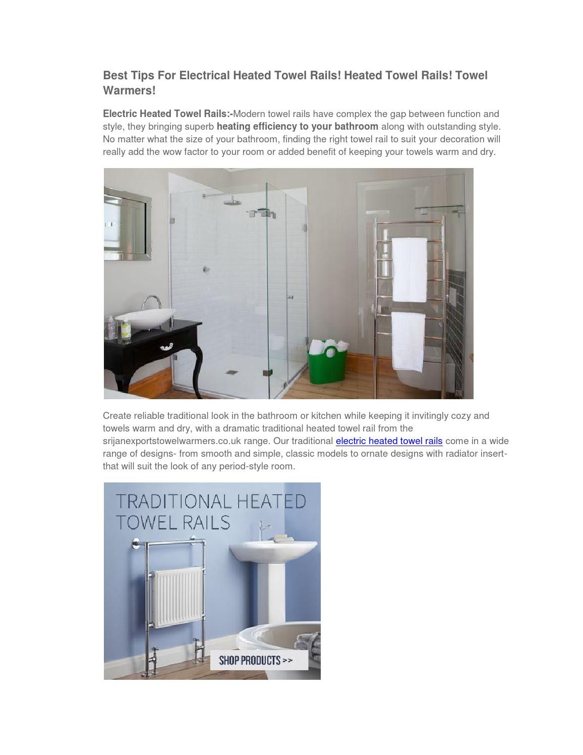 Best tips for electrical heated towel rails
