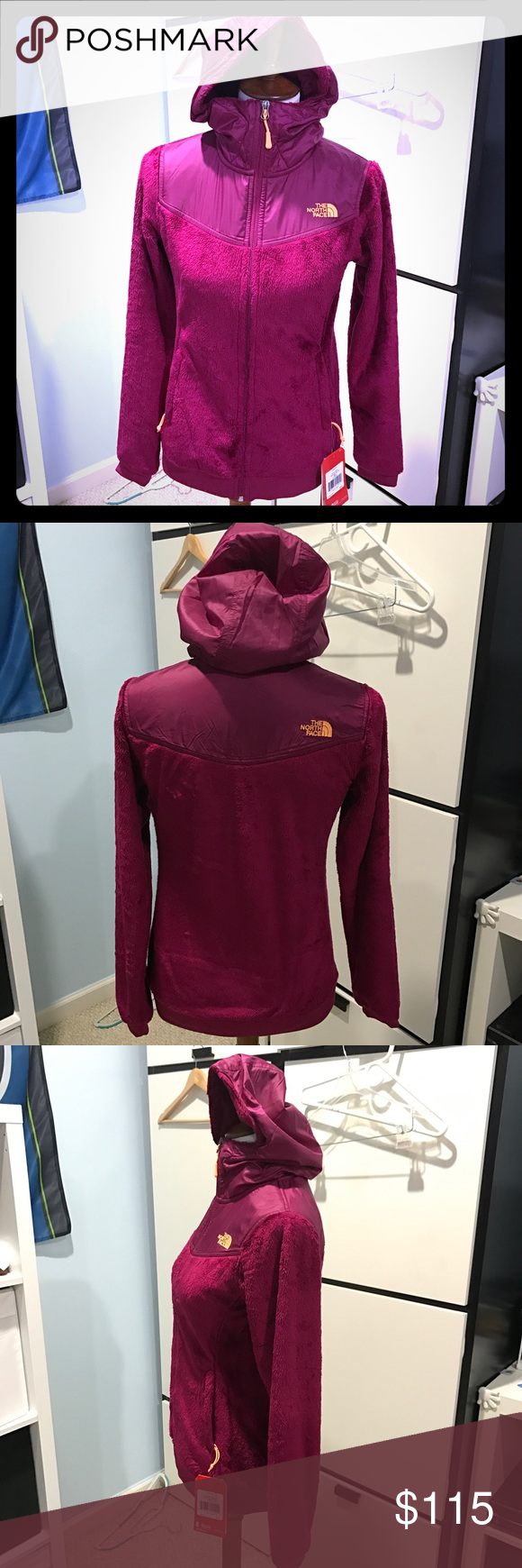 ffcf733170c0 North Face Oso Hoodie Plum Authentic North Face Oso Jacket! Super soft!  NWT! Rare find Color. Plum to red wine color! Just in time for Fall and  Winter!!