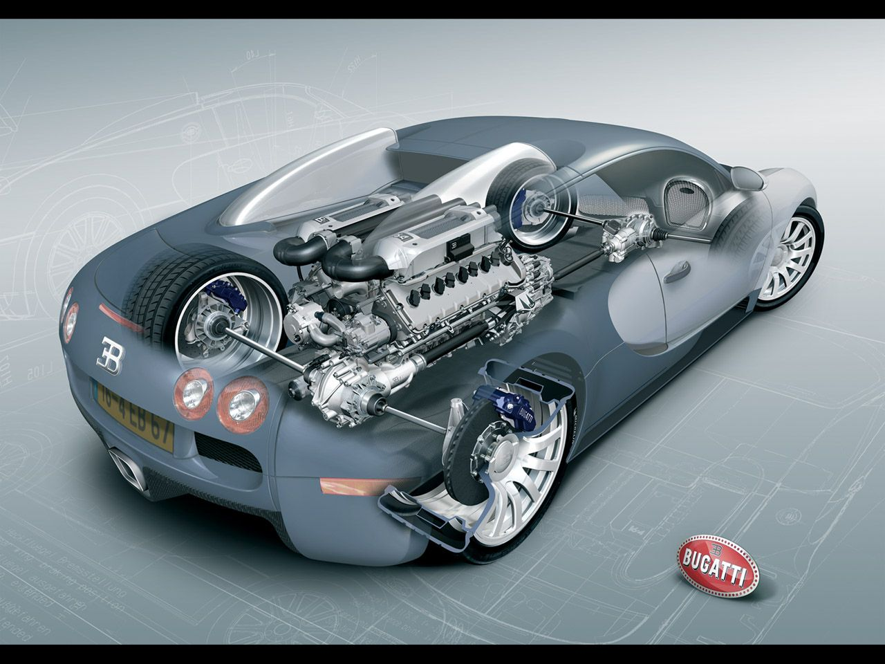 bugatti veyron   Super Cars   Pinterest   Bugatti veyron, Engine and ...