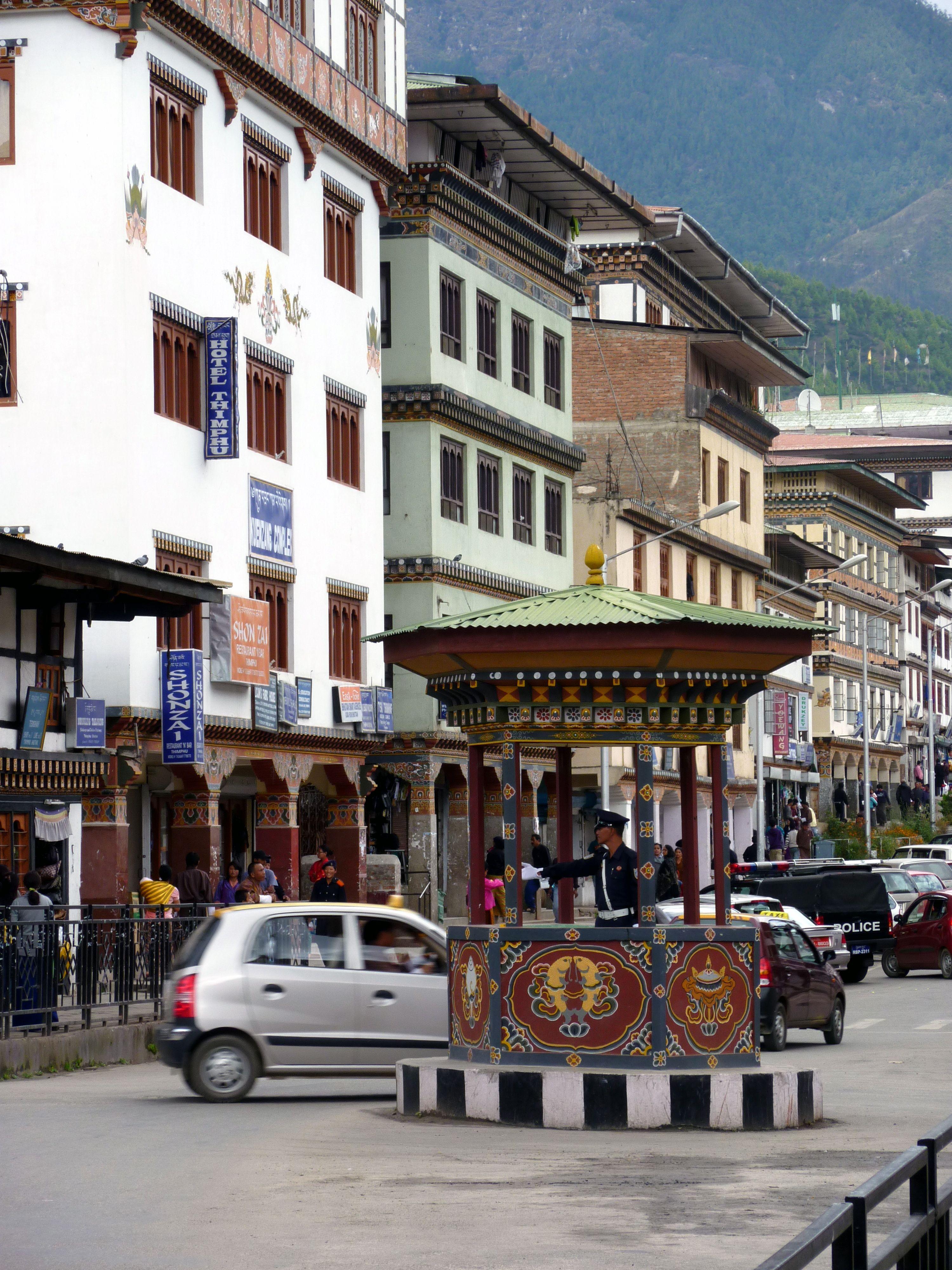 The Human Stoplight In Thimphu Bhutan Bhutan Travel Bhutan Thimphu