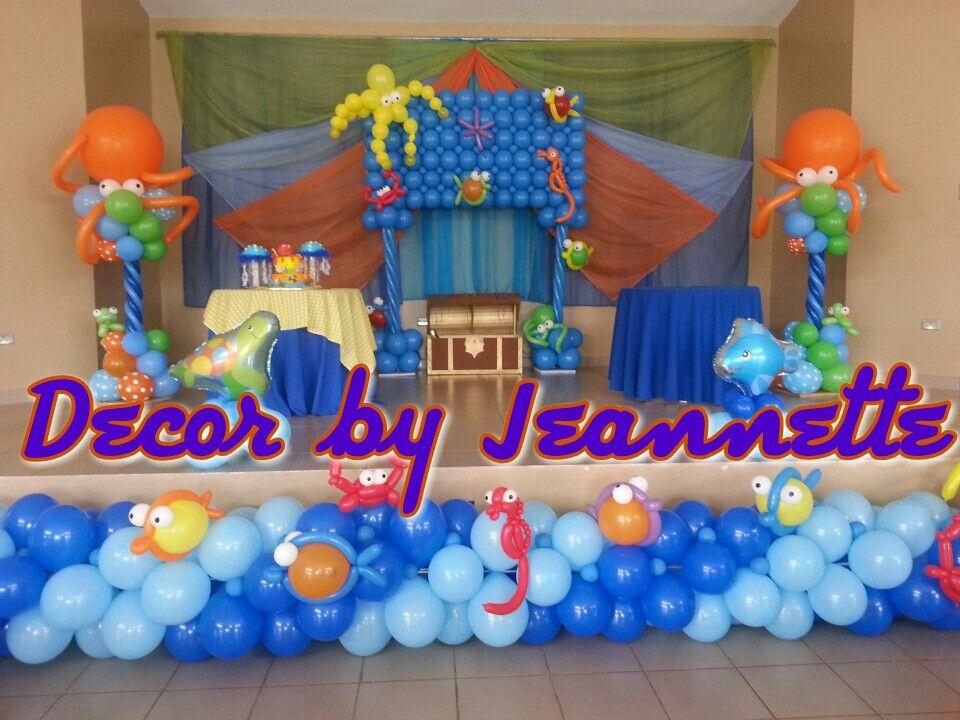 Under the Sea balloon decoration