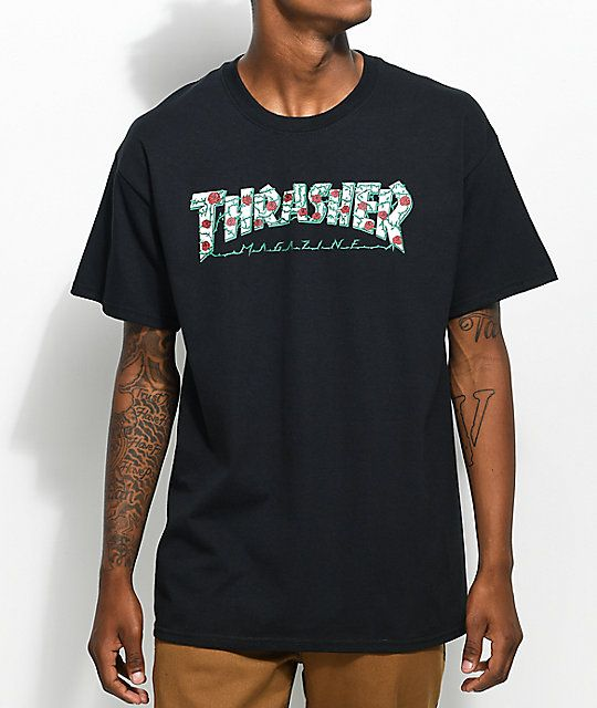 0f8c2012f4de Thrasher Roses Black T-Shirt in 2019