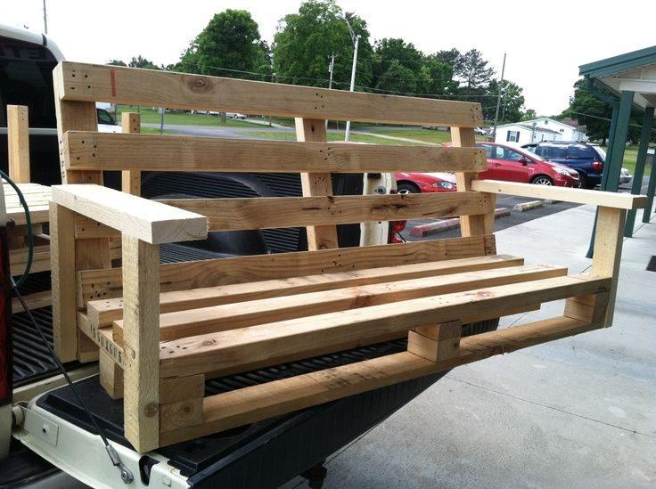 How to make a porch swing out of pallets google search for How to make furniture out of wood pallets