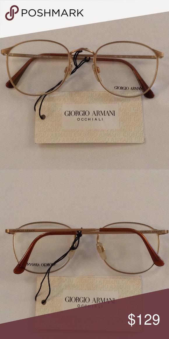 29fab61ad4f6 Giorgio Armani Occhiali women s eyeglasses frames Brand new vintage Giorgio  Armani metal frames eyeglasses.(50-20-135) Brand new!