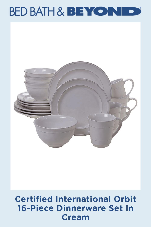 Certified International Orbit 16-Piece Dinnerware Set In Cream