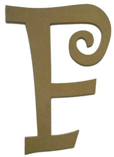 unfinished wooden letter f curlz font wall 24 large letter craft by build