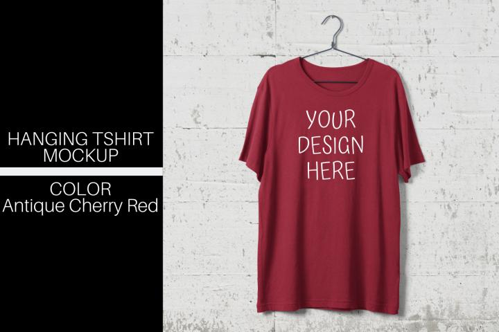 Download Hanging T Shirt Mock Up Antique Cherry Red Png 426809 Mockups Design Bundles Mockup Design Tshirt Mockup Mockup