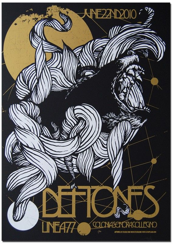 fb79c71d4 DEFTONES - Collegno TO 2010 in 2019 | rock posters | Poster, Music ...