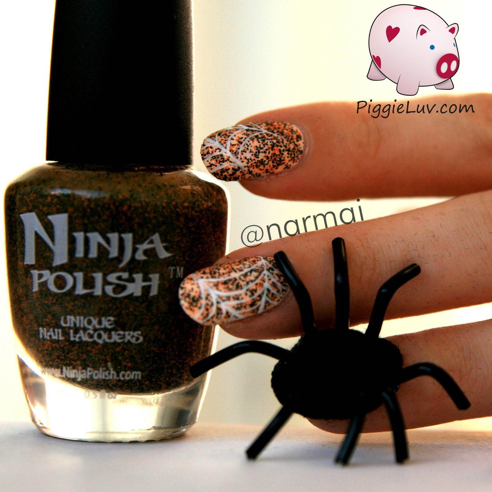 Creepy crawly 3D spider nail art | Nail art, Nails ...