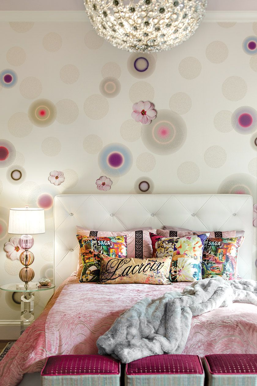 Pops of pink fresh florals and plenty of bling combine in a dreamy bedroom houck created for the 2016 dc design house interior design a houck designs