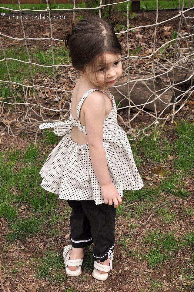 Ruffled Peek a Boo Toddler Shirt Tutorial via Cherishedbliss.com