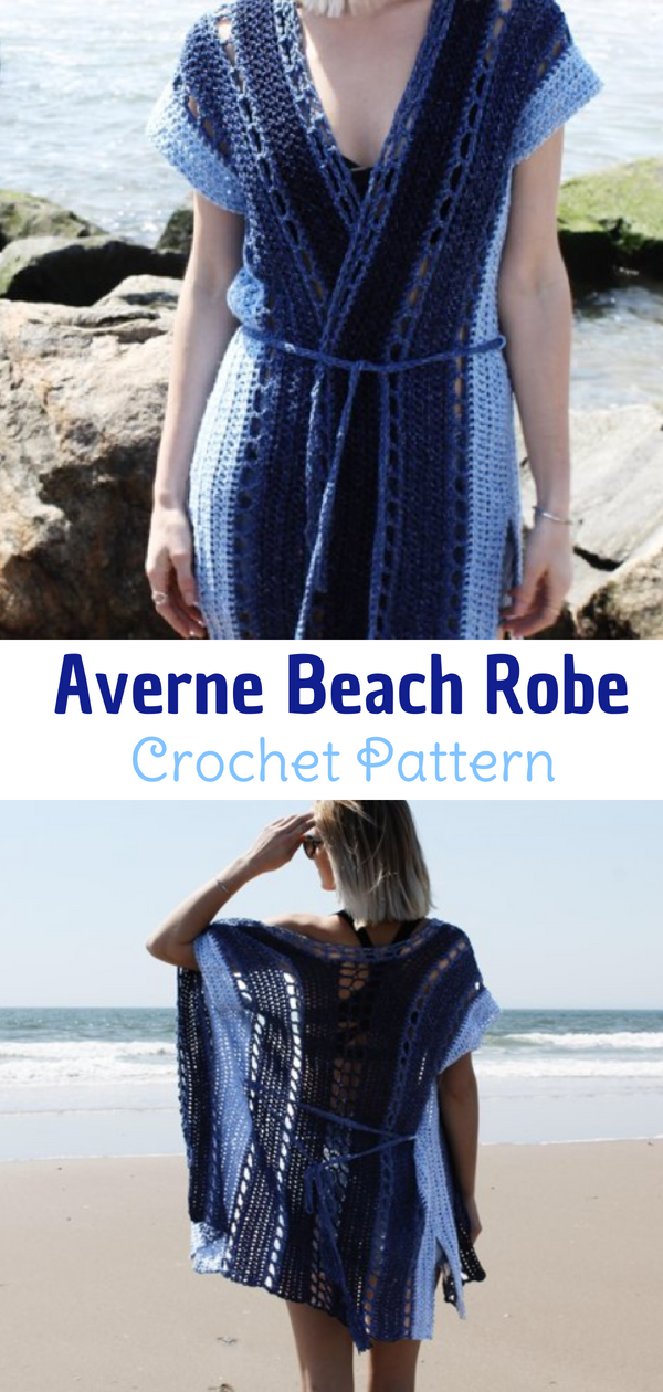 5e75e6a01c Lovely Crochet Beach Robe. This ombré beach robe that fades like the tides  of the sea is the perfect compliment to your beach attire this summer.