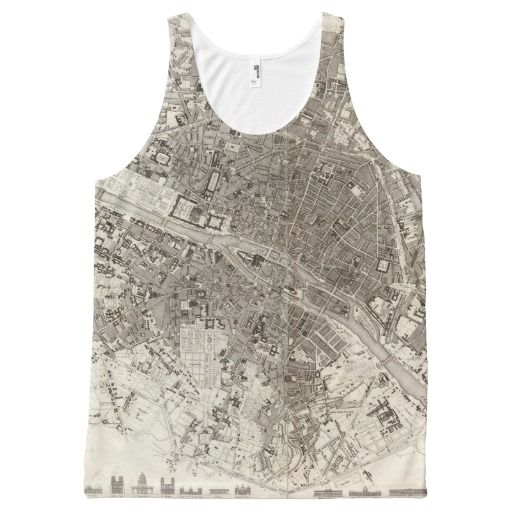 Paris All-Over Print Tank Top Tank Tops