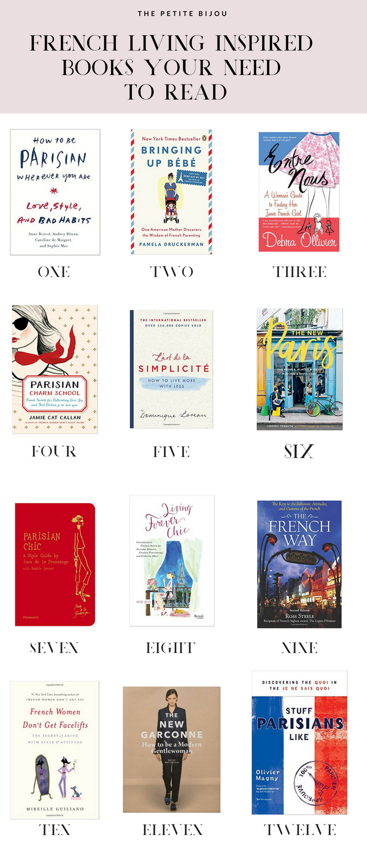 If you are in love with French culture and French style, you need to check out The Petite Bijou's french inspired living reading list! Lot's of great books on french culture, french fashion, french food, and everything Parisian Chic! Click through to the post to read all the book recommendations about the French and France!