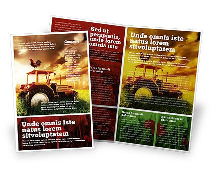 Agriculture Brochure Templates In Microsoft Publisher, Adobe Illustrator  And Other Formats. Download Agriculture Brochure  Microsoft Flyer Templates Free Download