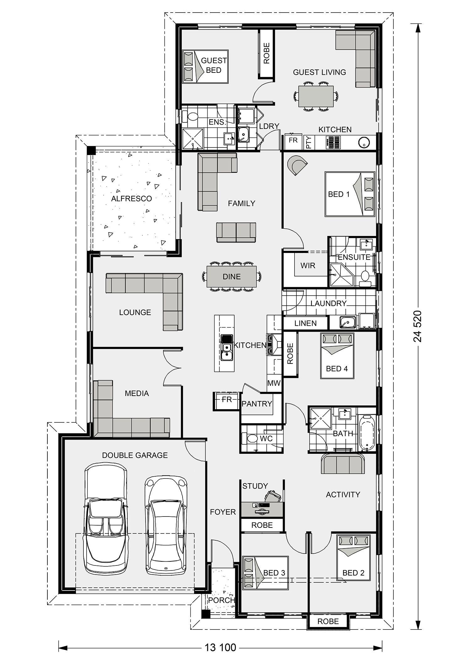 Floor Plan With Guest Suite House Design House Plans Floor Plans