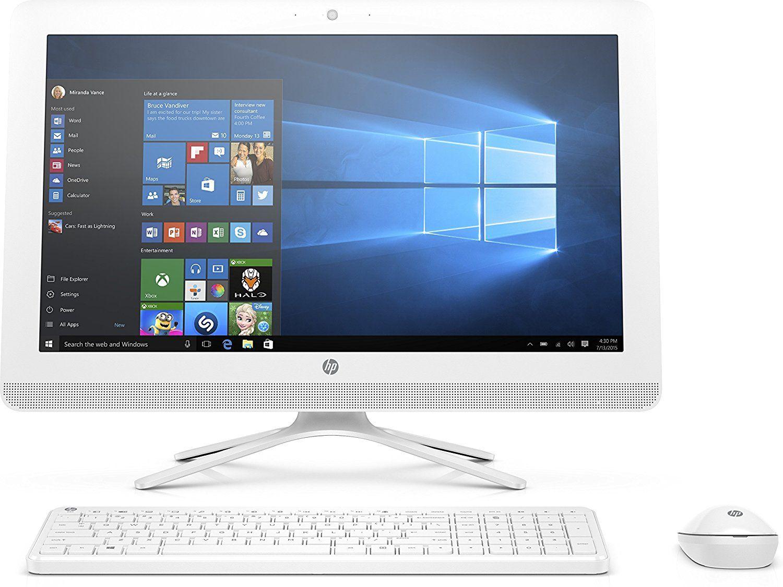 Hp 22 B027nf Pc De Bureau Tout En Un 22 Full Hd Blanc Intel Core