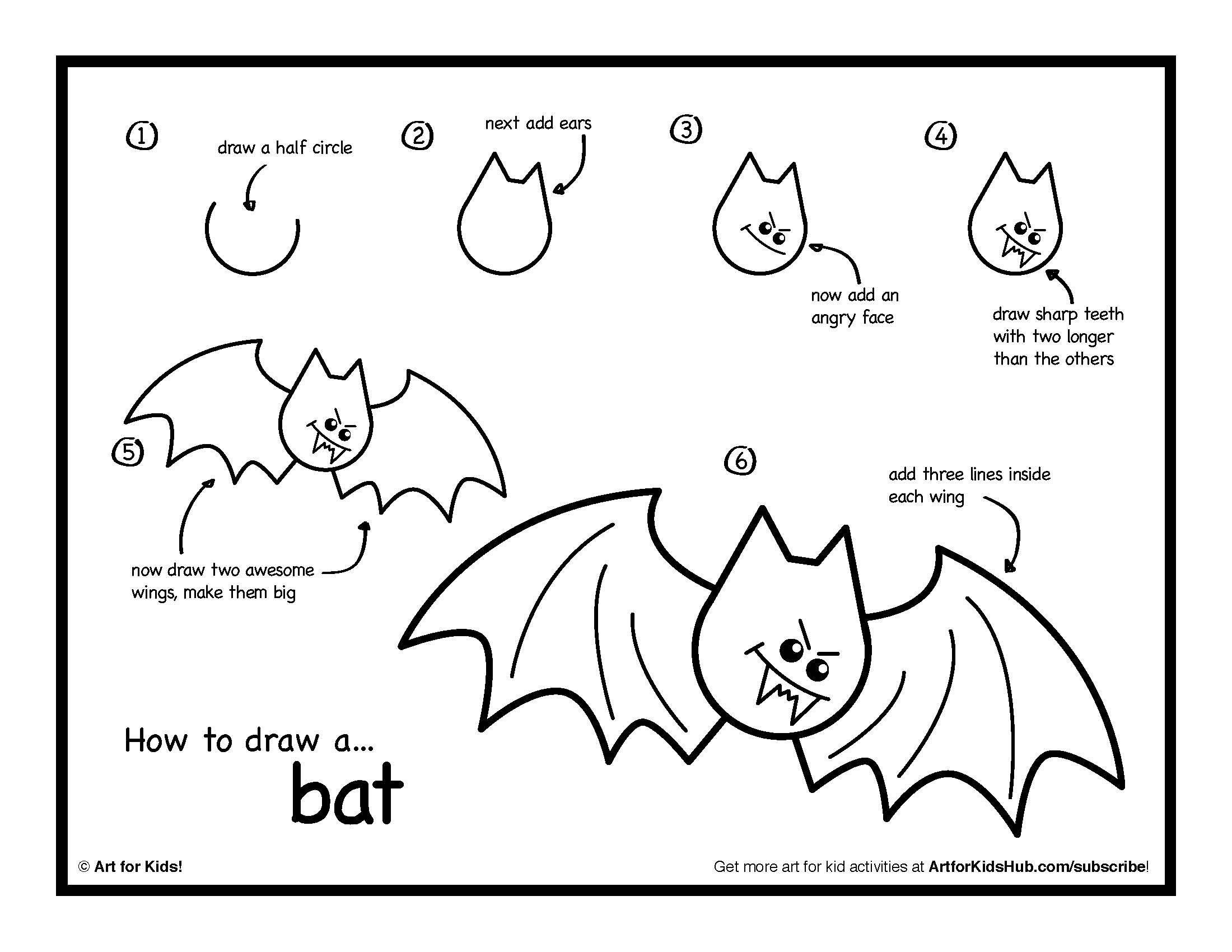 Libretas De Dibujo De Un Artista Freelance: How To Draw A Bat - Buscar Con Google