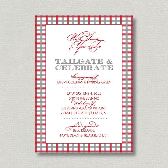 e3d42a596467 Printable Invitation for Couples Tailgate Shower or Engagement
