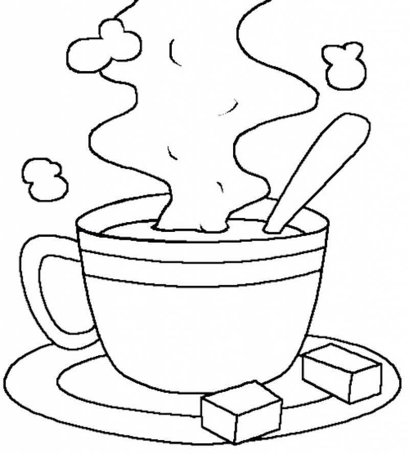 Printable Coloring Pages Hot Chocolate Hot Chocolate Drawing Hot Chocolate Art Coloring Pages