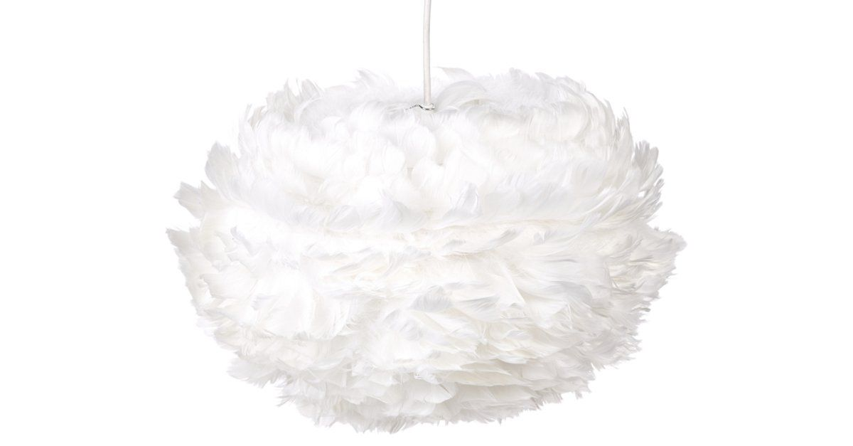 Flame-resistant goose feathers are hand-applied to a paper core, beautifully diffusing light for a soft, natural glow. Sculptural in design, this pendant will add contemporary style to any space....