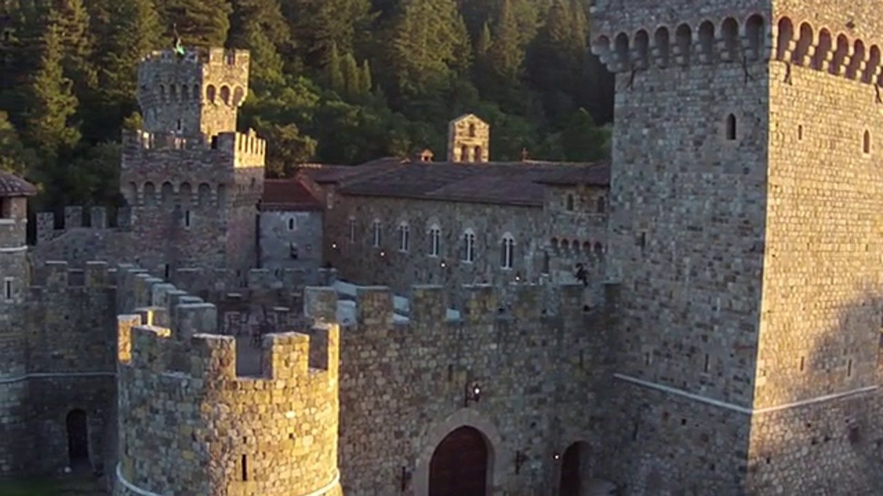 Beautiful aerial footage of Castello di Amorosa in Napa Valley during our Midsummer Medieval Festival
