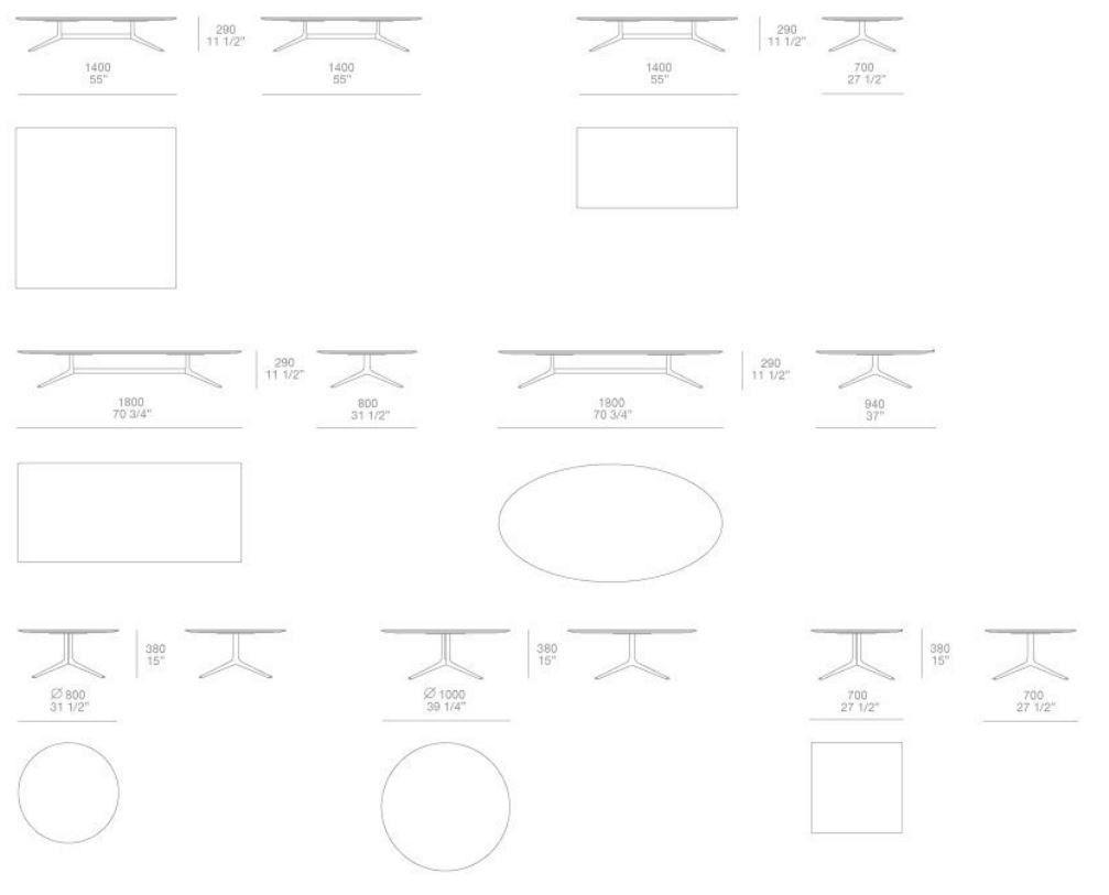 Dimensions Mondrian Rectangular Coffee Table Oval Coffee Tables Marble Coffee Table Round Coffee Table [ 813 x 1007 Pixel ]