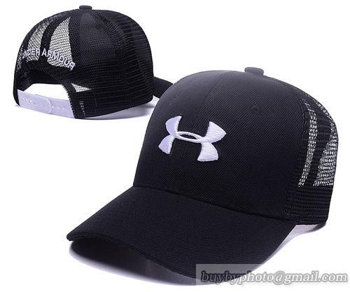 UnderArmour  Caps Adjustable Mesh Hats Snapback Caps Black White ... 6c461aaa058