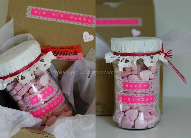 Geschenk im glas gl ck geburtstagsgeschenk brause brauseherzen geschenkidee upcycling diy - Pinterest geburtstagsgeschenk ...