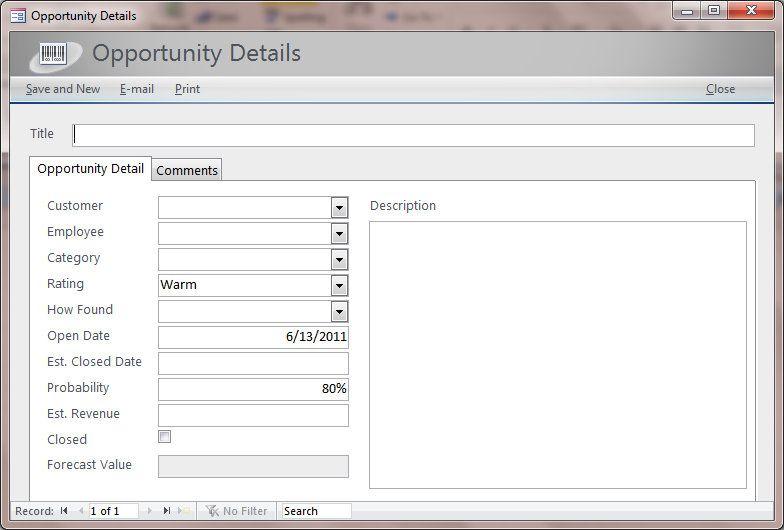 microsoft access sales database template - Khafre