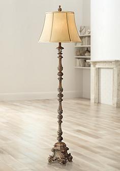 Beige French Candlestick Floor Lamp | Rustic floor lamps