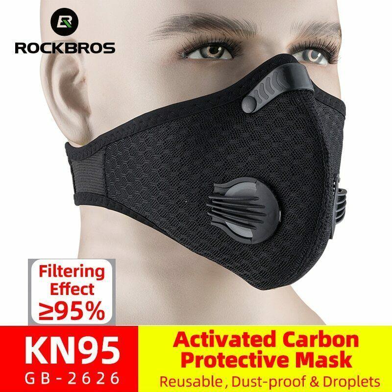Anti Pollution Masque Anti-Poussi/ère Masque Charbon Actif Masque Courir Cyclisme pour Allergie Au Pollen Travail du Bois Fauchage Course /À Pied Cyclisme Masque Anti-Poussi/ère en Plein Air