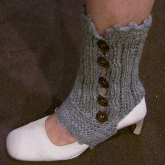 Download Now - CROCHET PATTERN Knit-Look Crocheted Spats (Ankle ...