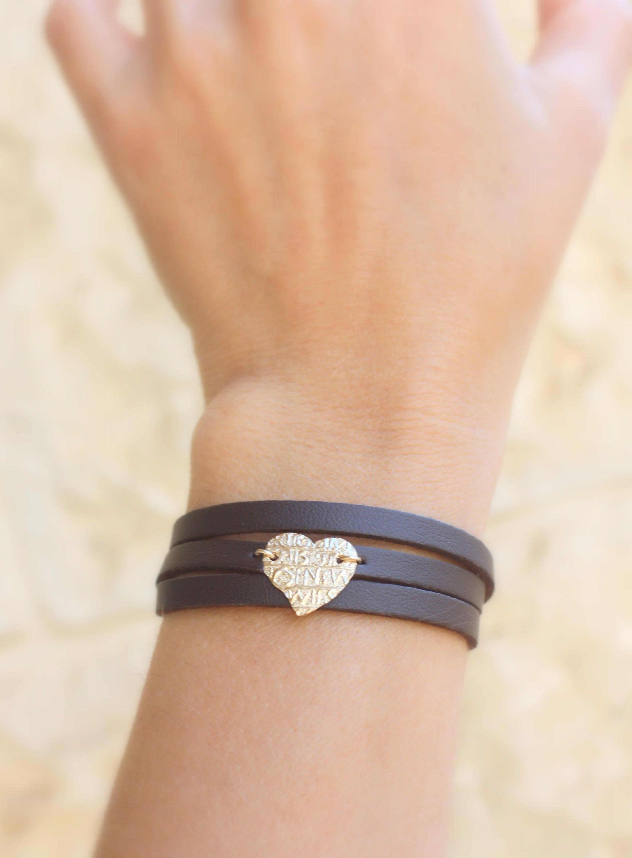 Photo of Leather Wrap bracelets for women  Heart bracelet gold and leather bracelet Wrap Boho Bracelet Leather Wrap bracelet Bohemian Jewelry