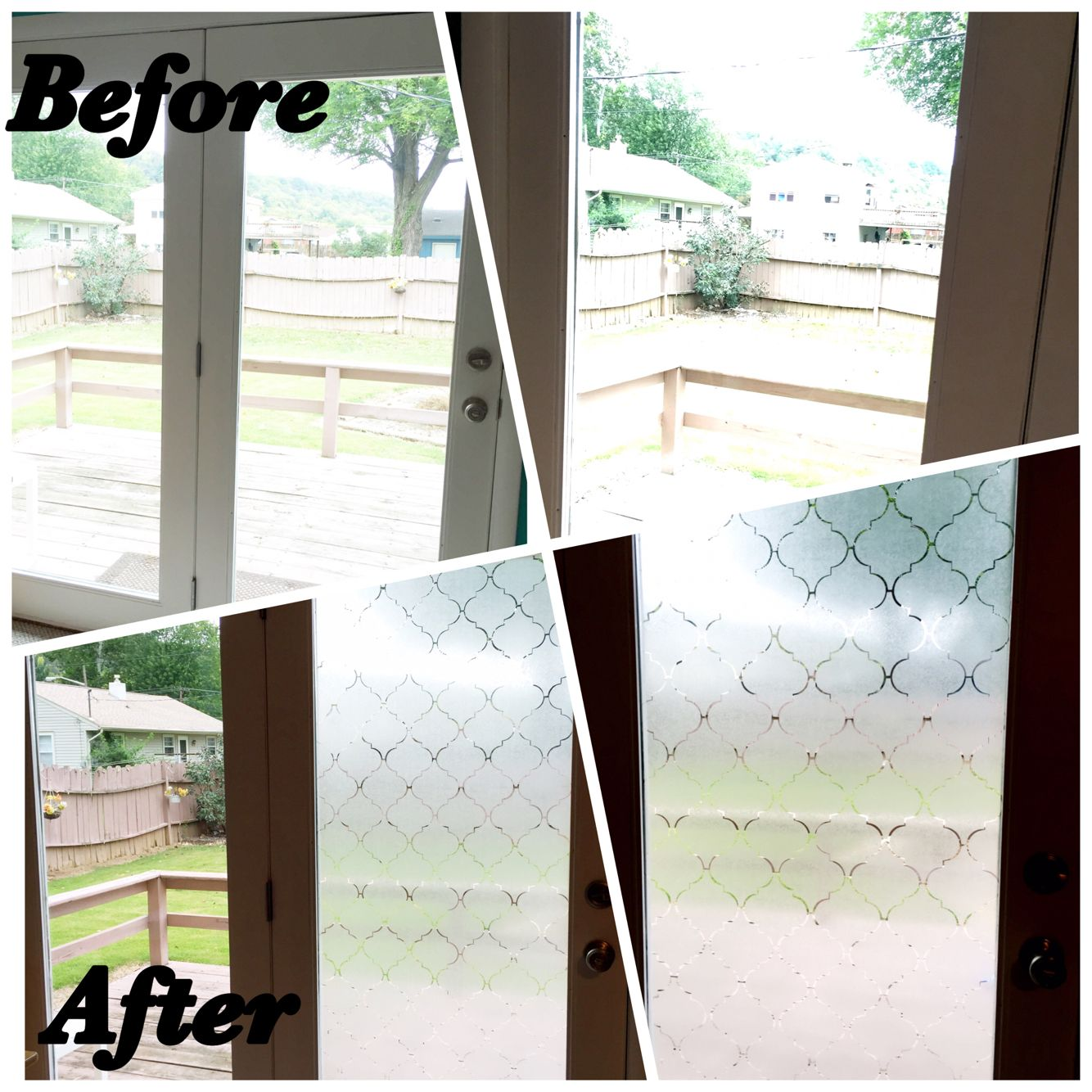 Diy contact paper window covering did this on my moms back door
