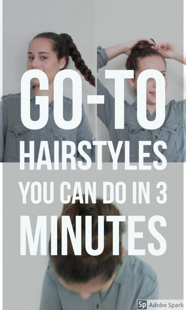 Busy mornings don't have to mean bad hair days. These 5 easy hairstyles are perfect for schoo... Busy mornings don't have to mean bad hair days. These 5 easy hairstyles are perfect for school or work and can be done in only 3 minutes.