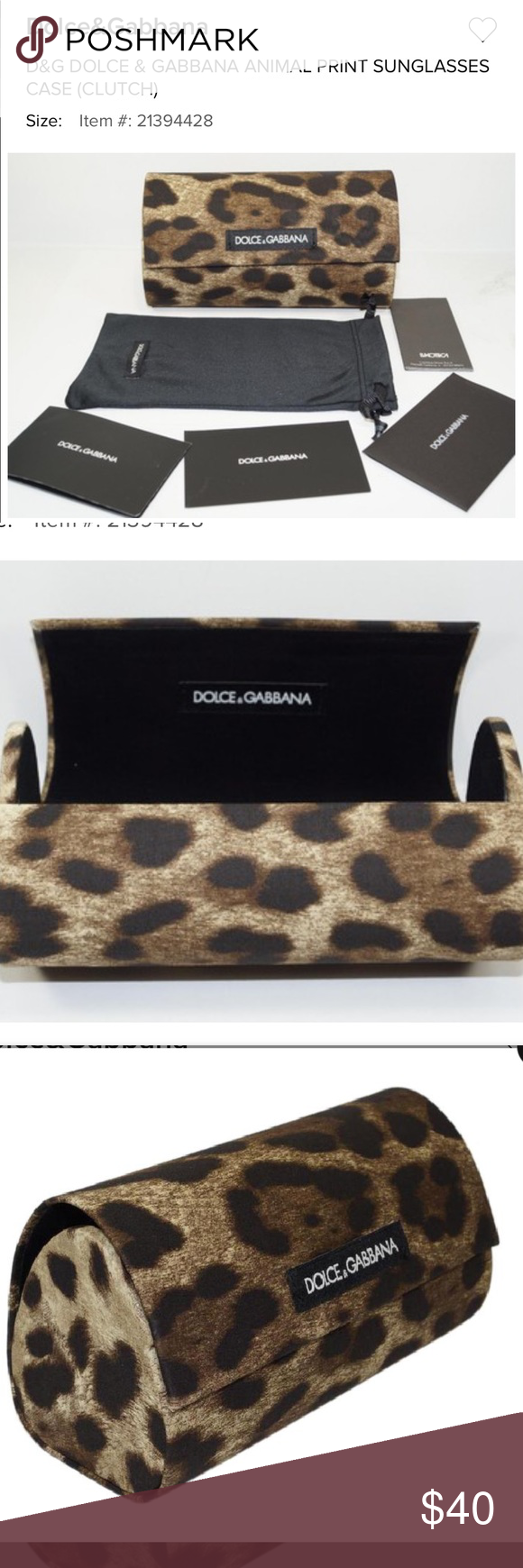 93345b5b00d5 Dolce   Gabbana Aunglasses Case and clutch Brand New 100% Authentic D G  DOLCE   GABBANA SUNGLASSES GLASSES CASE -BEAUTIFUL! Animal Print Hard Case  Magnetic ...
