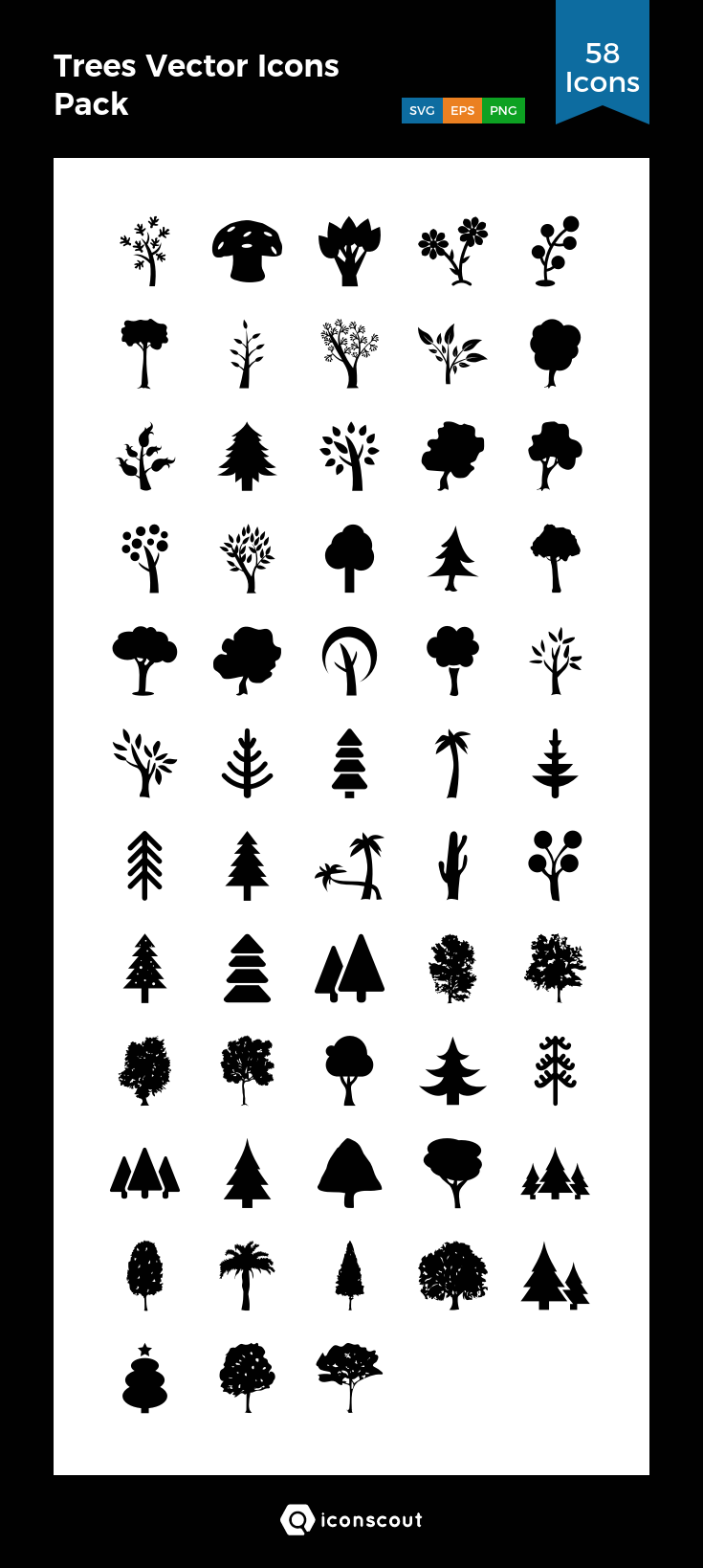 Download Trees Vector Icons Pack Icon pack Available in