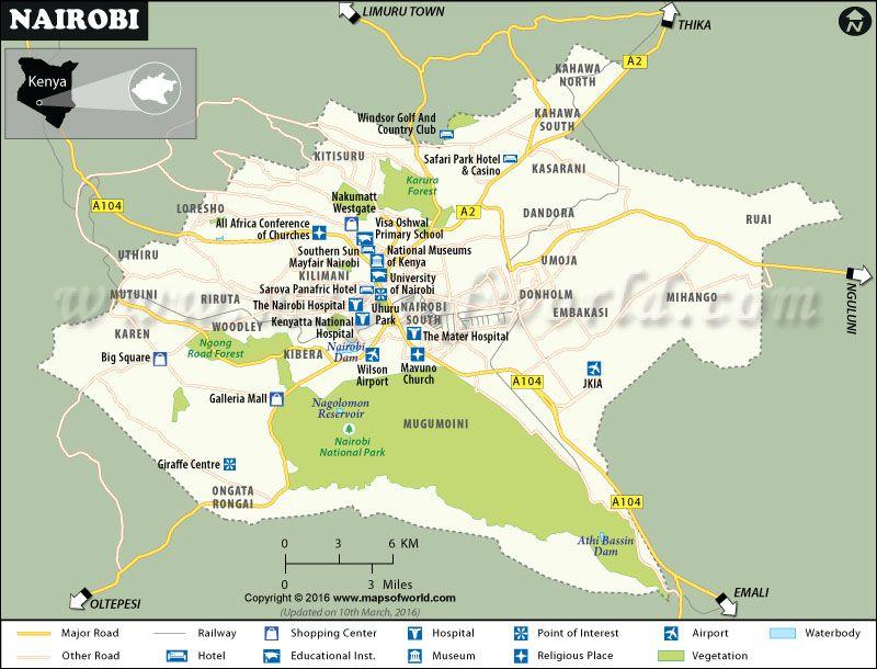 Map of nairobi capital of kenya maps pinterest nairobi kenya map of nairobi capital of kenya gumiabroncs Image collections