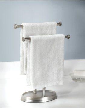 Amazon Com Umbra Palm Double Hand Towel Tree Guest Towel Holder Towel Rack Hand Towels Free Standing Towel Rack