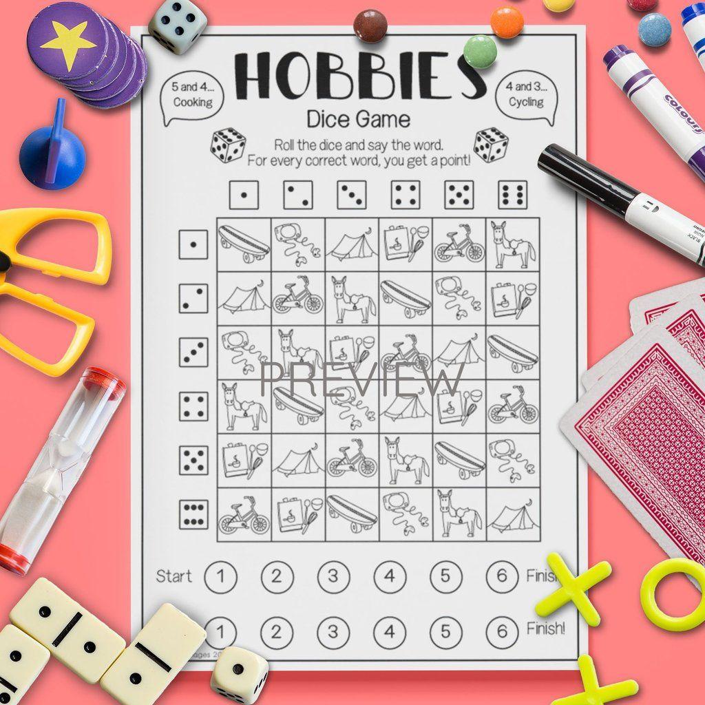Hobbies Dice Game