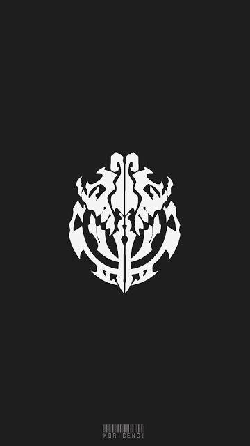 Nazarick Logo Overlord Wallpaper Wallpaper Anime Seni Anime Seni Digital Black anime logo wallpaper