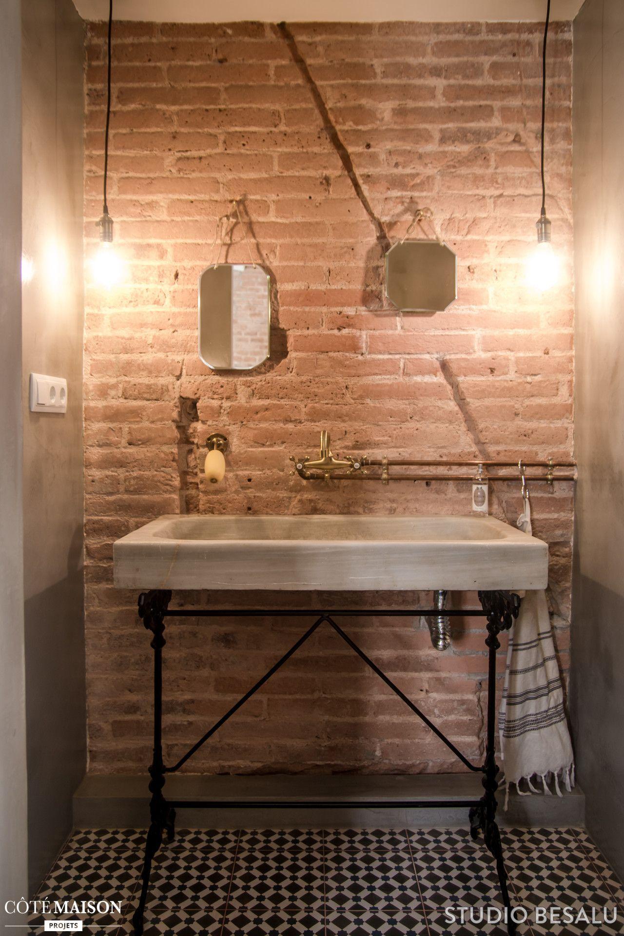 La salle de bains industrielle et rustique de l\'appartement | Maison ...