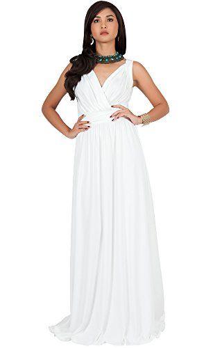 26a606ea0c7 KOH KOH Petite Women Long Sleeveless Flowy Bridesmaids Co... https