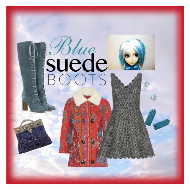 """""""Blue Suede Boots"""" by paroliro ❤ liked on Polyvore featuring Etro, Burberry, Hermès, RED Valentino, Selection Privee, boho, etsy, suedeboots and bluesuedeboots"""