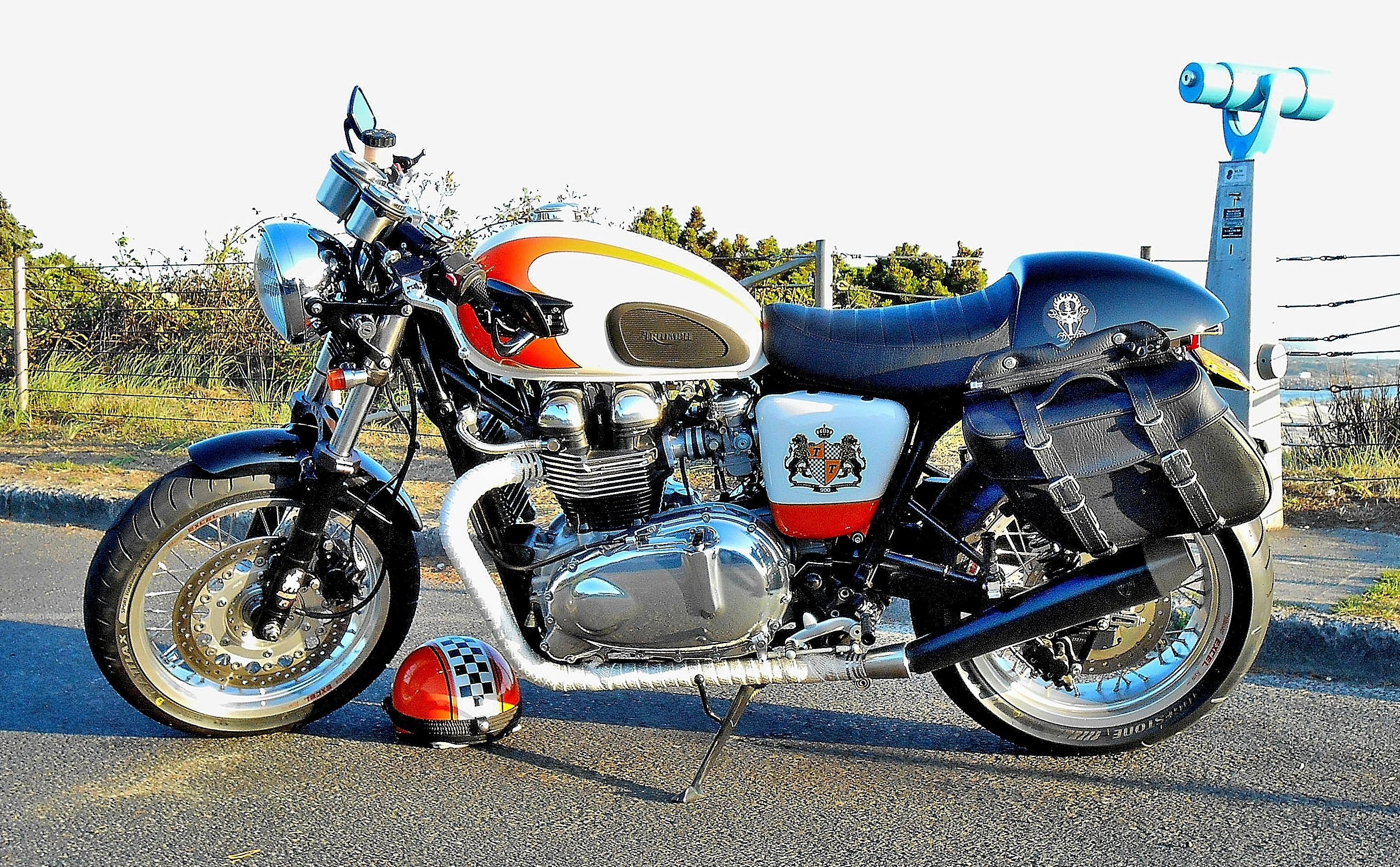 small resolution of thruxton with saddlebags added for light touring