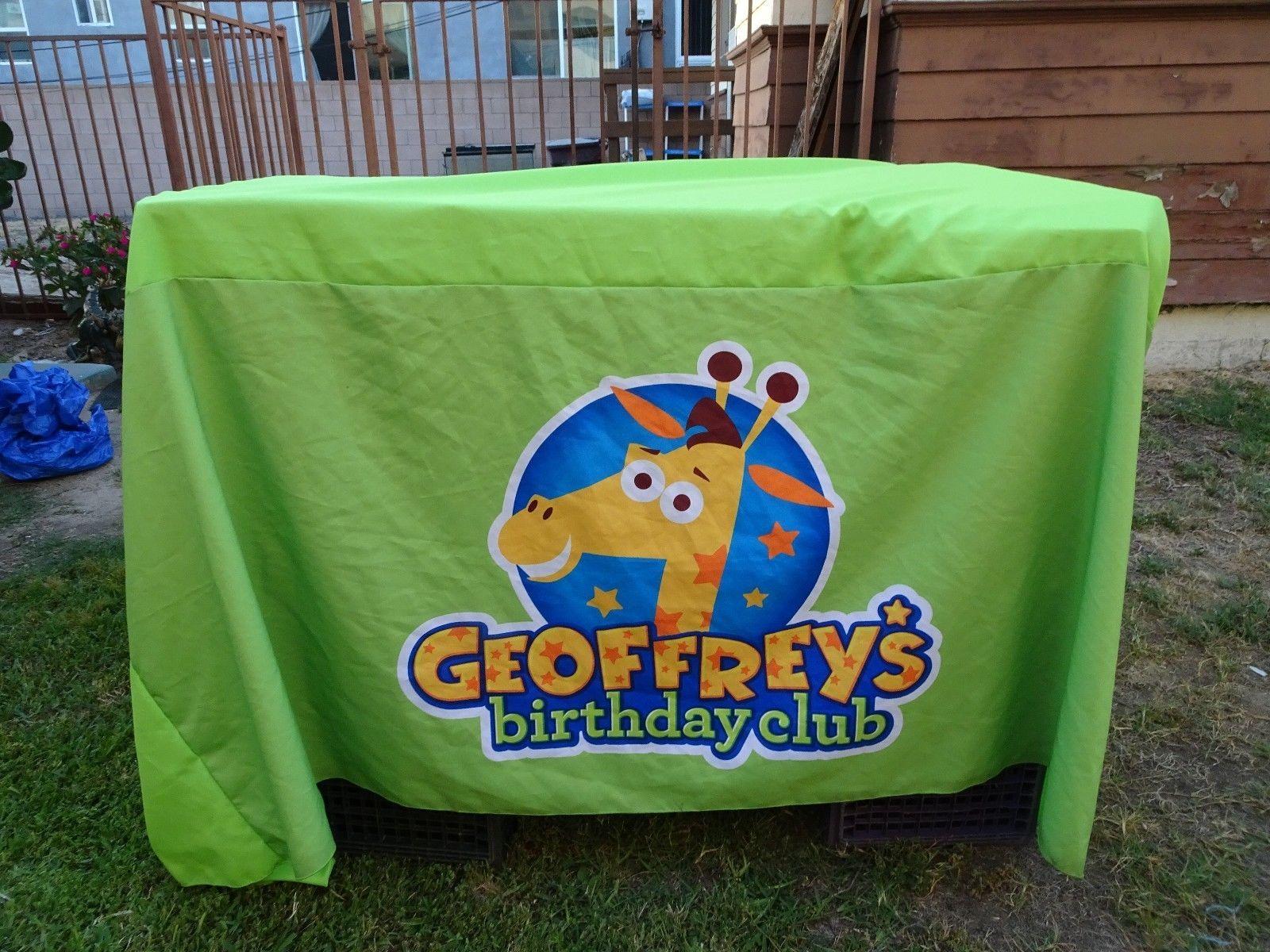 Birthday toys images  Toys R Us Kid Geoffrey Giraffe Birthday Club Table Cloth  Birthday club