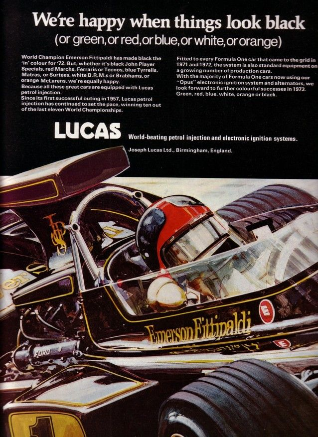 Images Of Lucas Car Ads Short History Of Lucas Mk1 And Mk2 Fuel Petrol Injection Mk1 History First Car