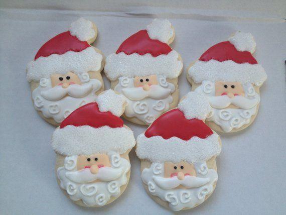 Santa Christmas Cookies Holiday Cookies Santa Cookie Santa