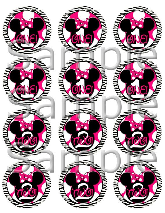 Printable Minnie Mouse Pink and White Polka Dot by SkyeCreation, $5.00